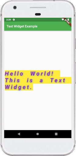 Flutter Text