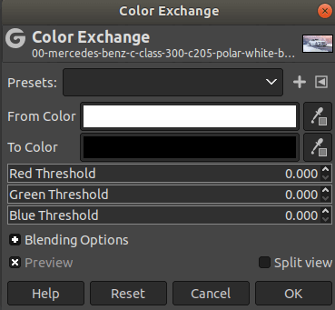 GIMP Change Colors