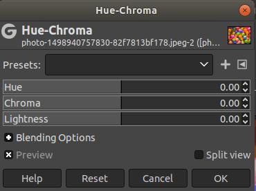 GIMP Colors Menu