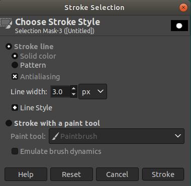 GIMP Draw Circle