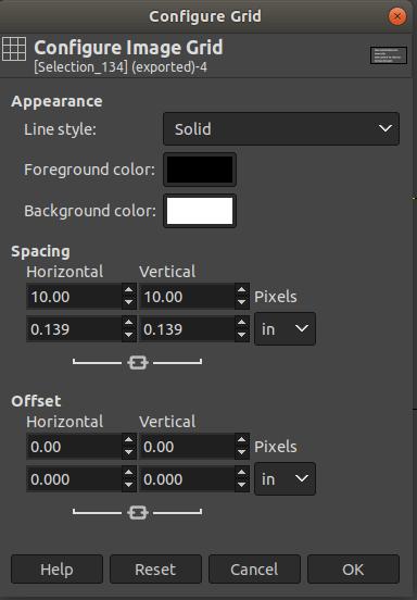 GIMP Image Menu