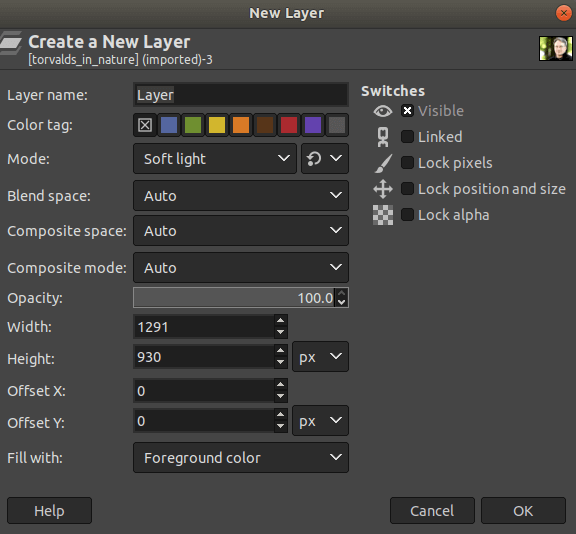 GIMP Layer Masks