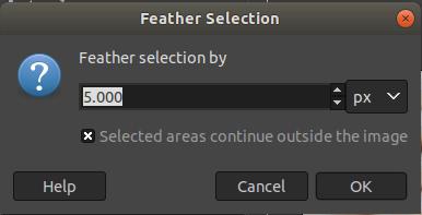 GIMP Select Menu