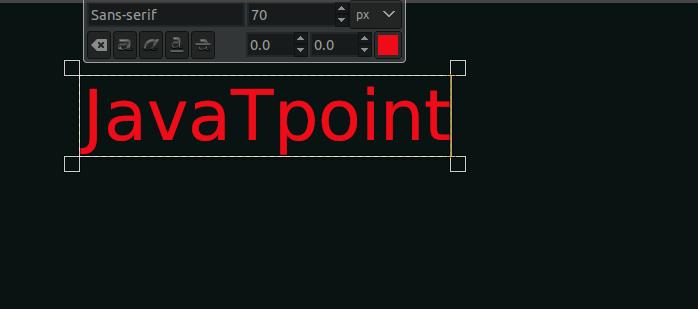 GIMP Text Outline