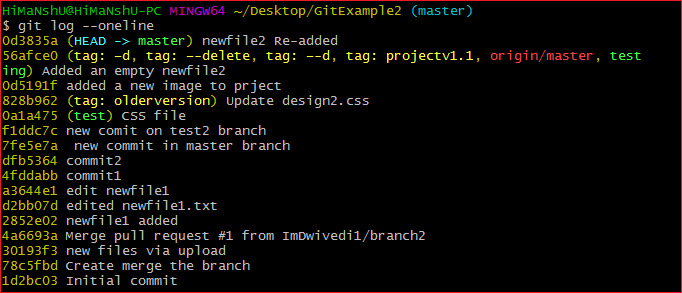 Git log 1