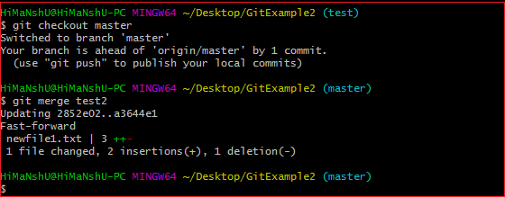 Git Merge and Merge Conflict