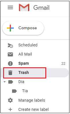 How to empty Trash in Gmail