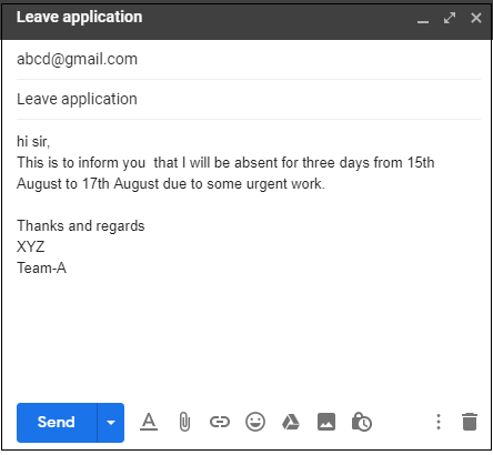 How to send an email in Gmail