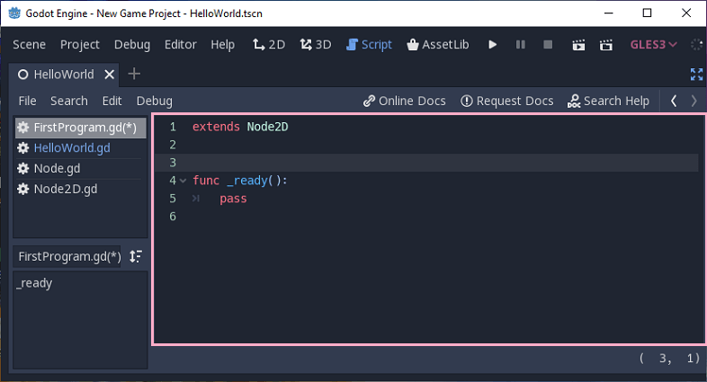 Creating First Godot Project