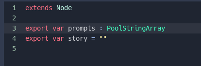 Storybook- Story Object (JSON)