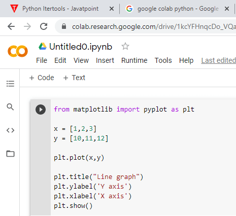 Python Programming with Google Colab