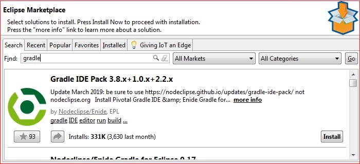 Gradle Eclipse Plugin