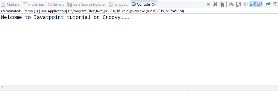 Basic syntax in groovy