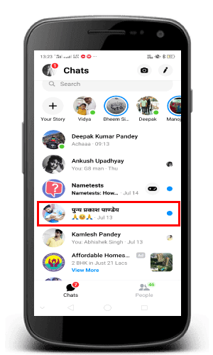 How to delete messages on Facebook messenger