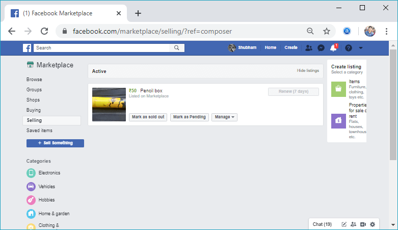 How to get Marketplace in Facebook