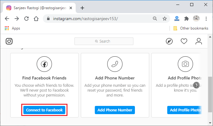How to link Instagram with Facebook