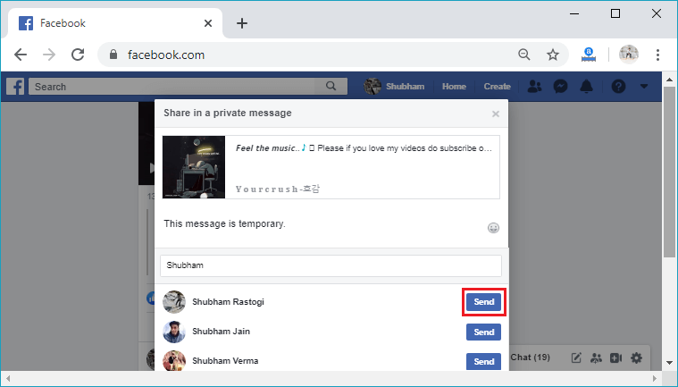How to share a post on Facebook