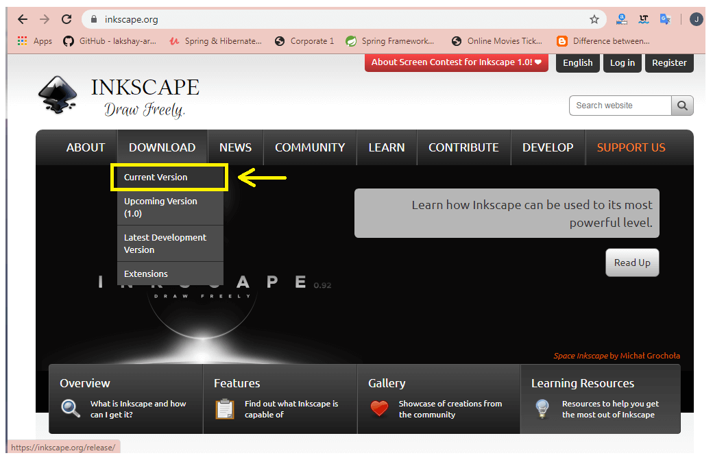 Installation of Inkscape Software