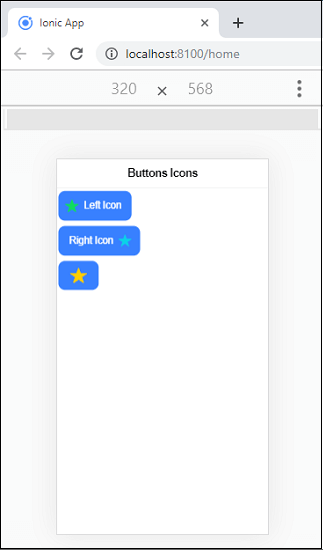 Ionic Buttons
