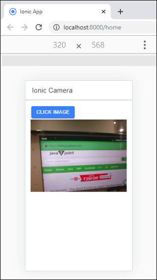 Ionic Camera