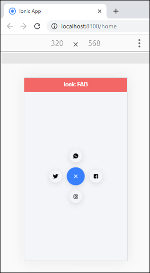 Ionic FAB Button