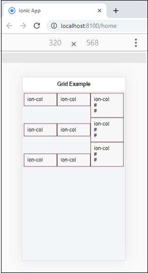 Ionic Grid