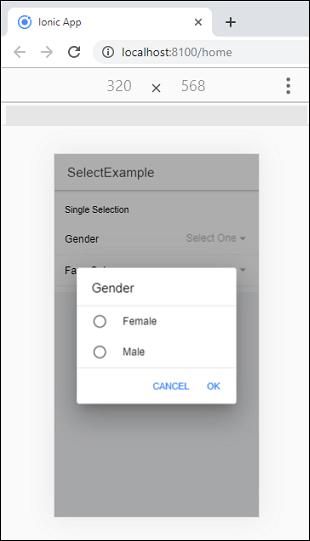 Ionic Select