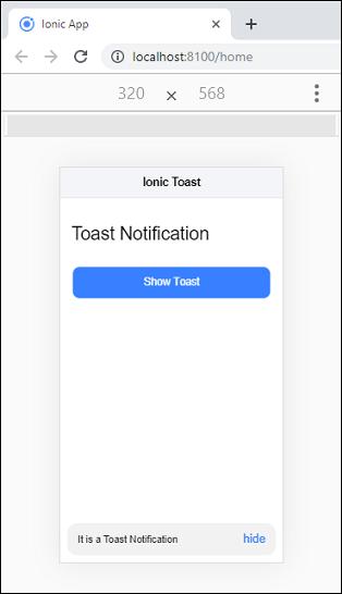 Ionic Toast