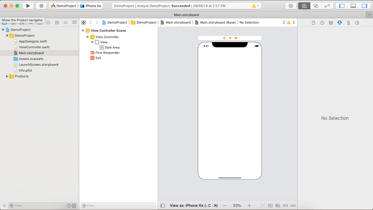 Creating first iOS application