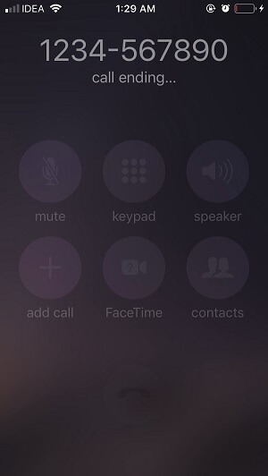 How to make a phone call in the iOS app