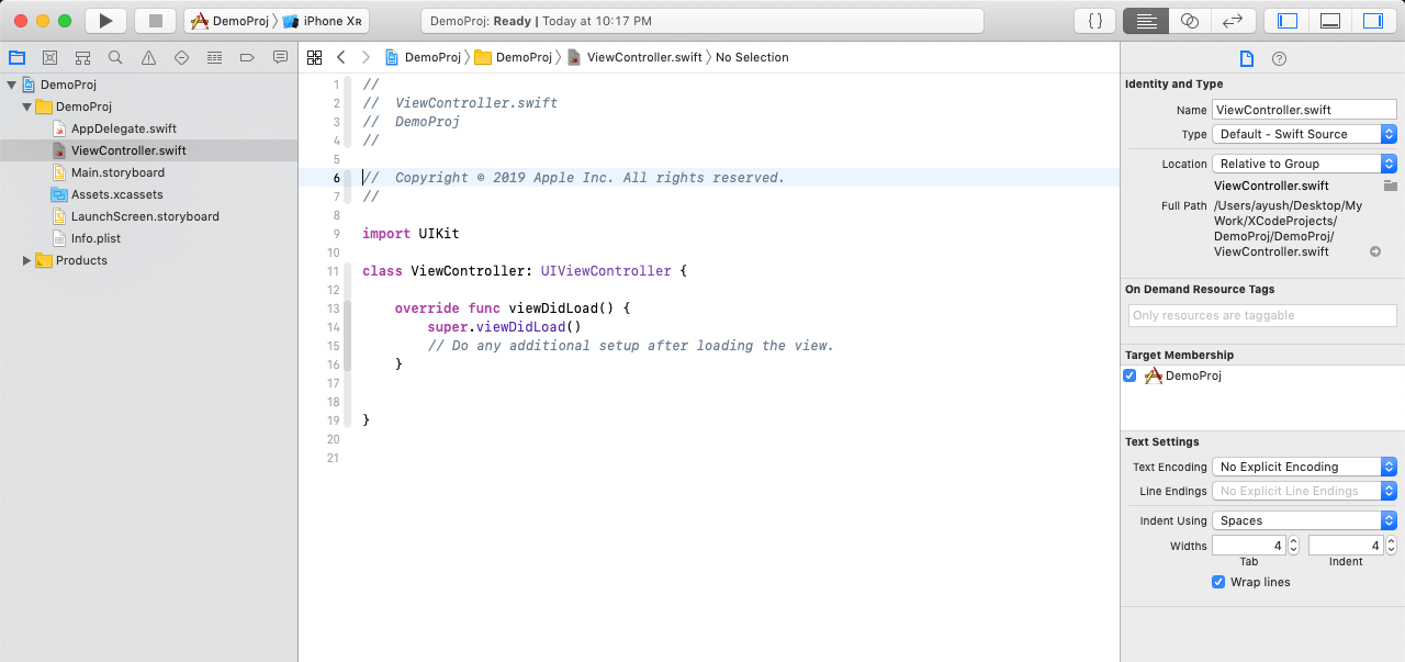 Introduction to XCode IDE
