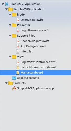 iOS Model View Presenter