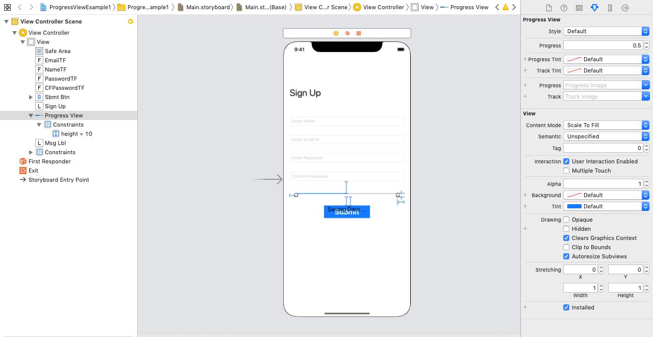 iOS ProgressView