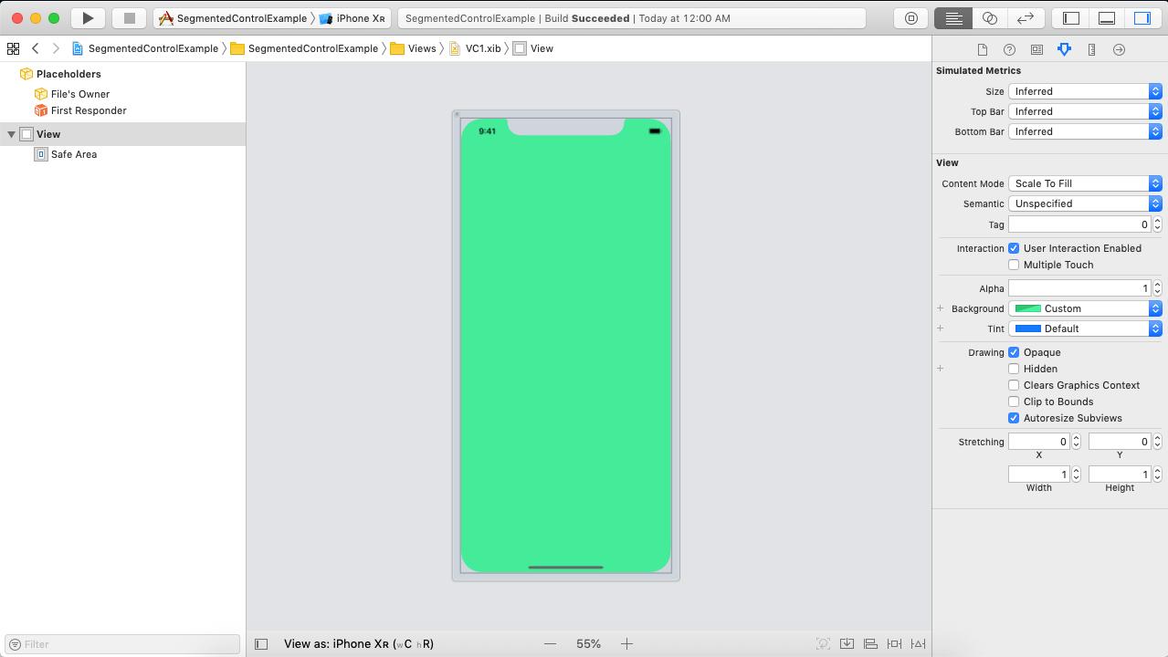 iOS Segment Control