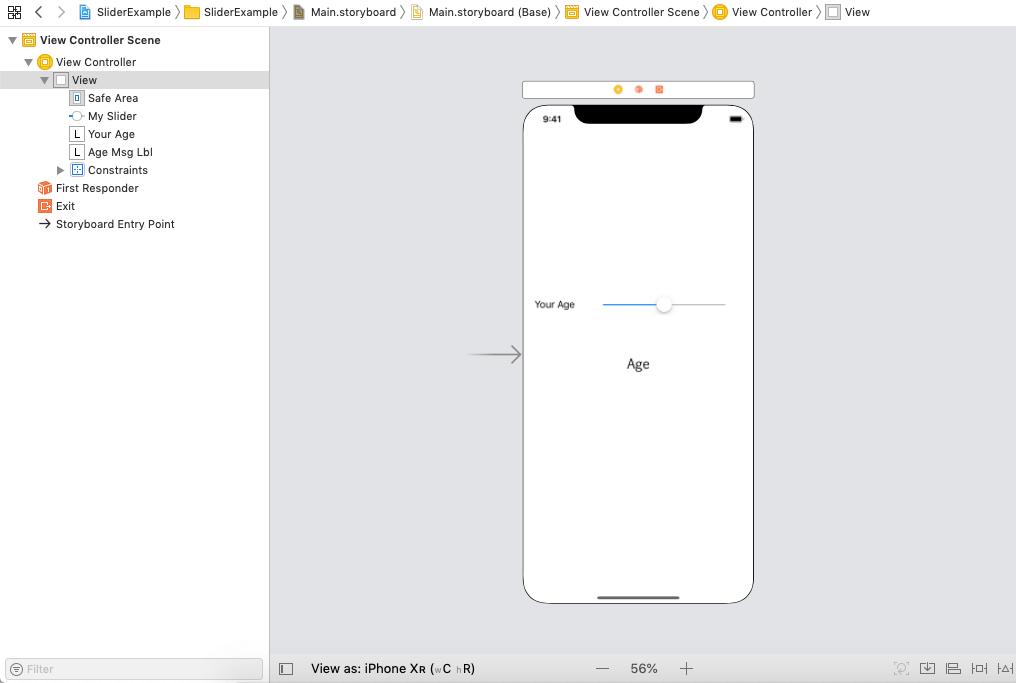 iOS Slider