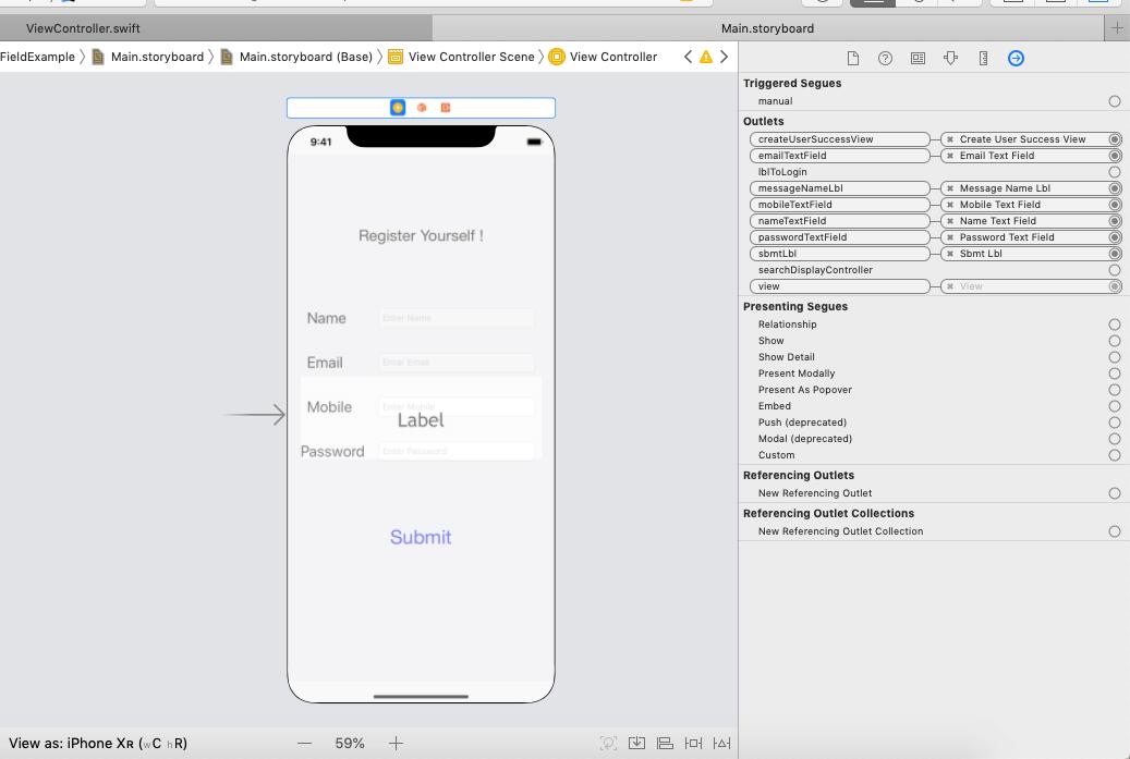 iOS TextField