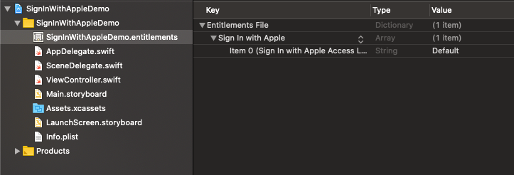 Sign-in with Apple using swift