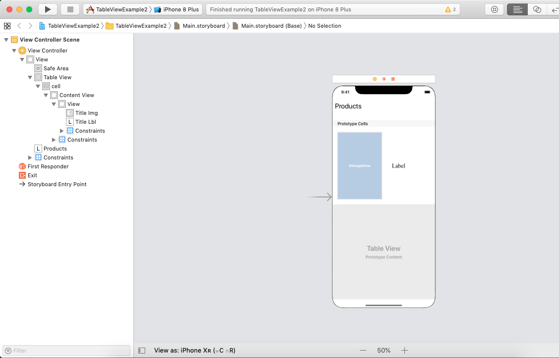 iOS TableView