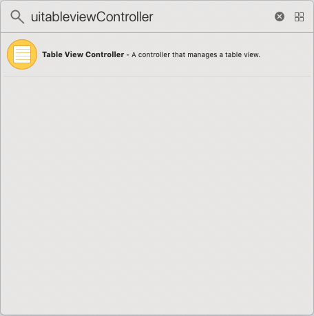 iOS TableViewController