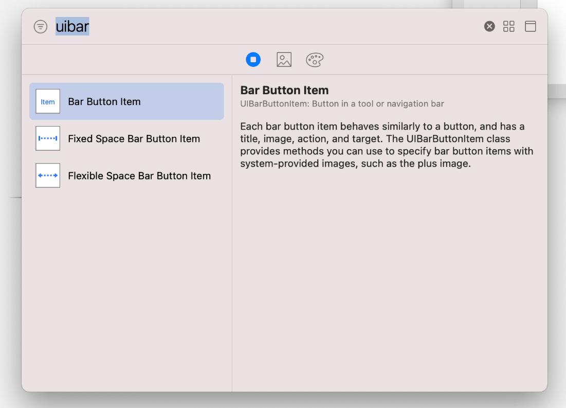 UIBarButtonItem in iOS