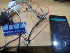 IoT project of controlling home light using WiFi Node MCU, and Relay module