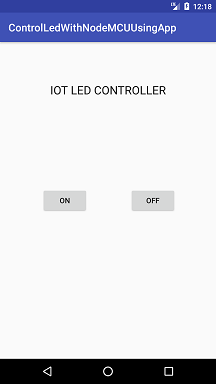 IoT Project: Google Firebase controlling LED using Android App