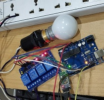 IoT project of controlling home light using Bluetooth module, Arduino device, and 4 Channel relay module