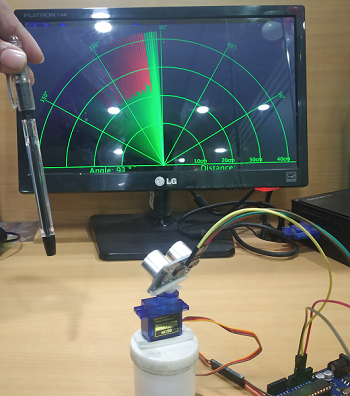 IoT project of Sonar system using Ultrasonic Sensor HC-SR04 and