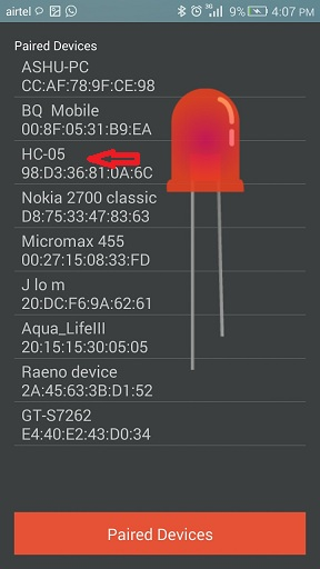IoT project using Arduino and Bluetooth Module to control LED through Android App