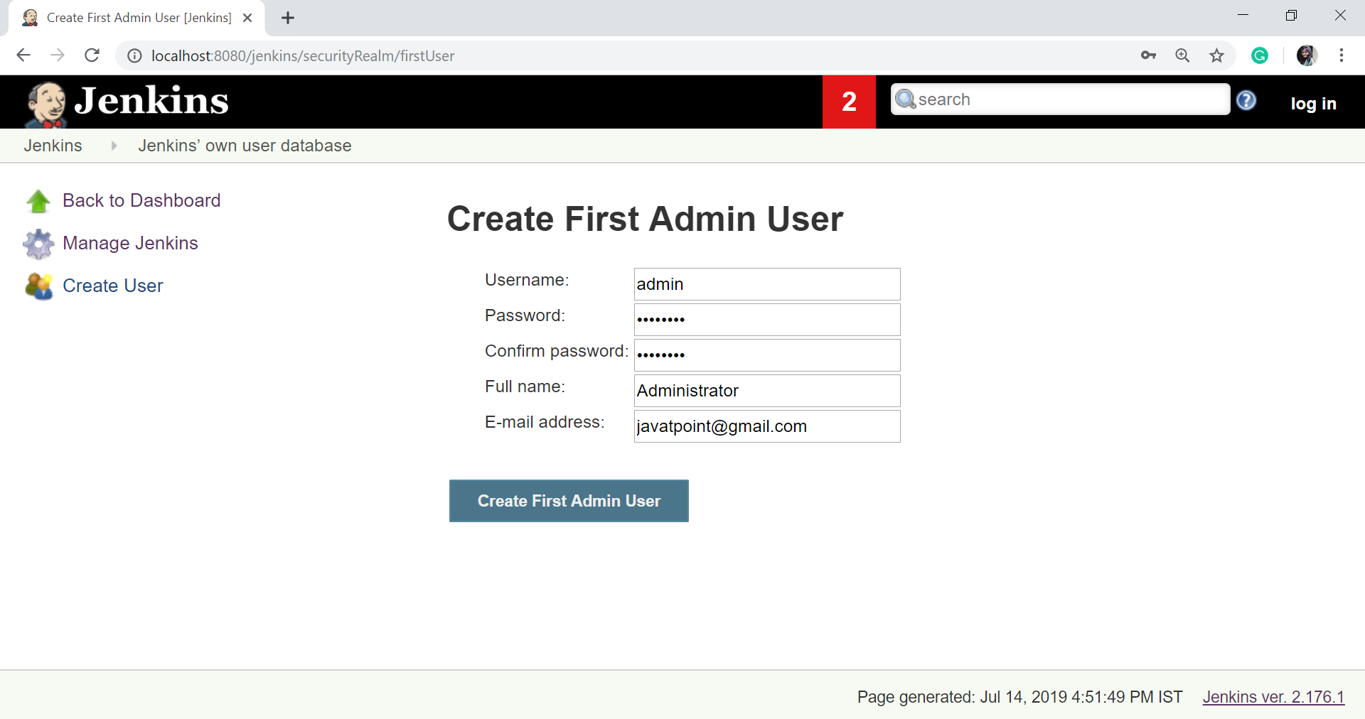Create and Manage Users in Jenkins