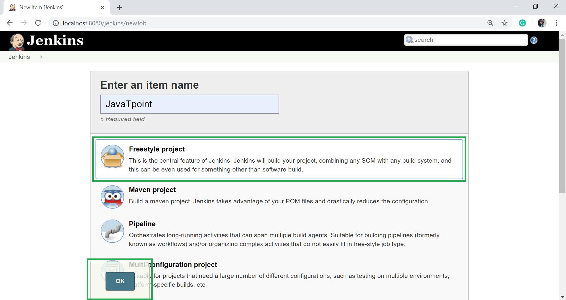 Jenkins GitHub Setup - javatpoint