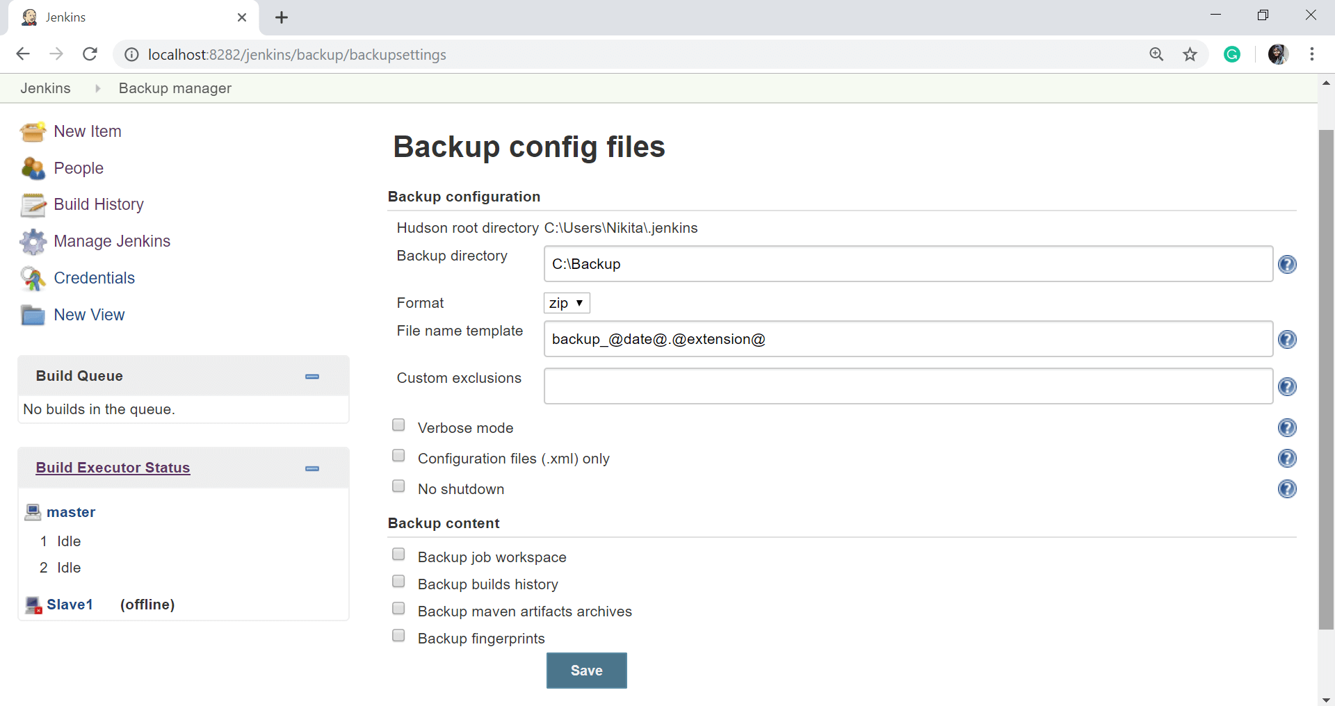 Jenkins Backup Plugins