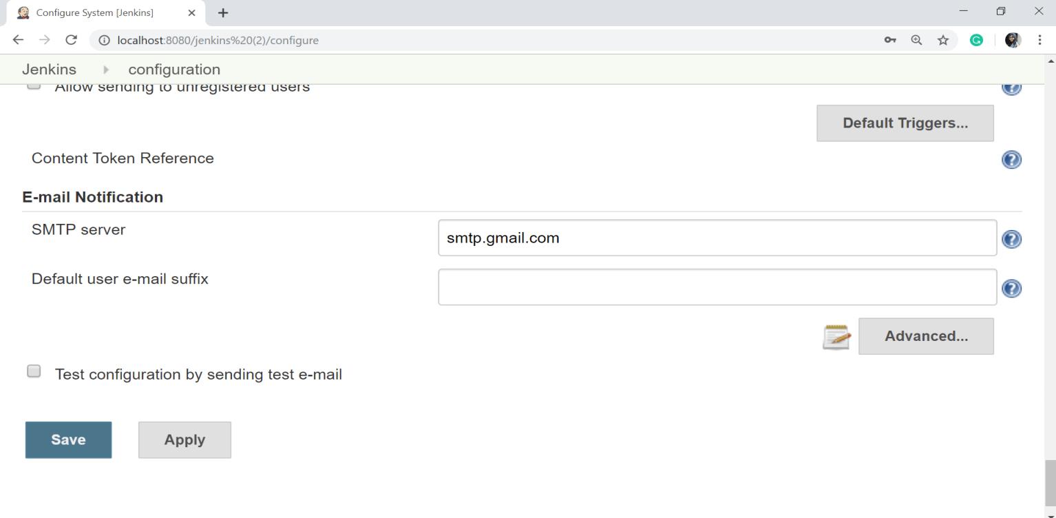 Jenkins Notification - javatpoint