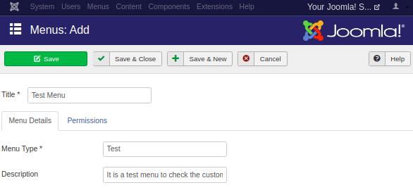 Joomla Create Menus